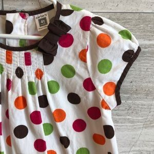 Carter's dress with polka dots